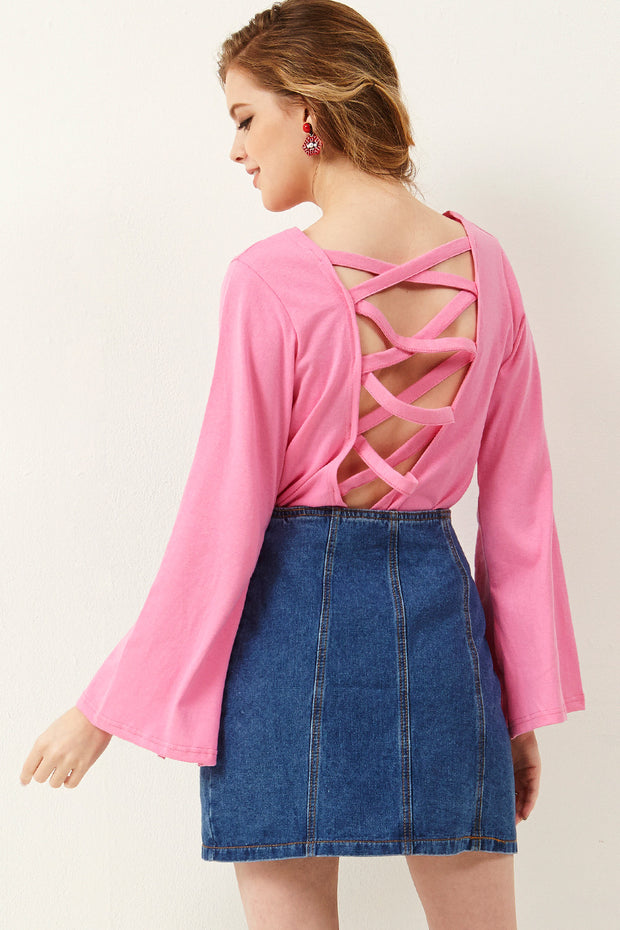 storets.com Barbara Back Strappy Cut Out Top
