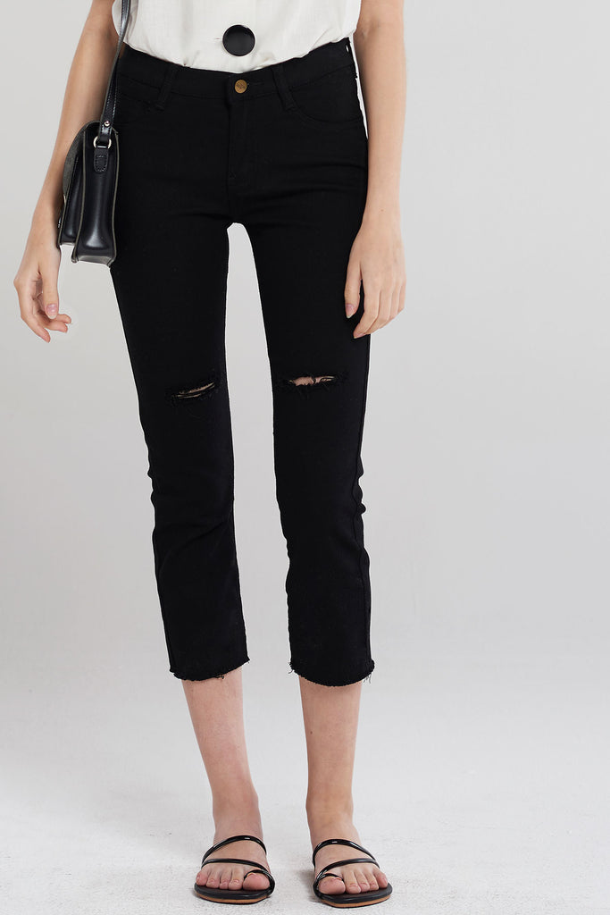 Basic Tone Daily Jeans-Black