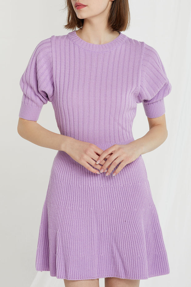 Bianca Puff Sleeve Knit Dress