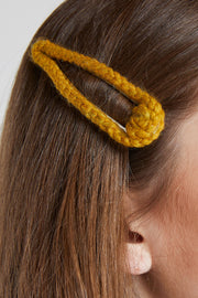 Braided Mustard Hair Clip