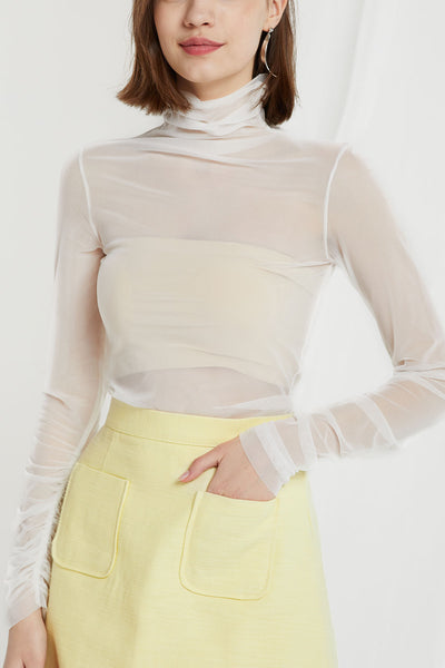 storets.com Brynlee Mesh Turtleneck Top-4 Colors