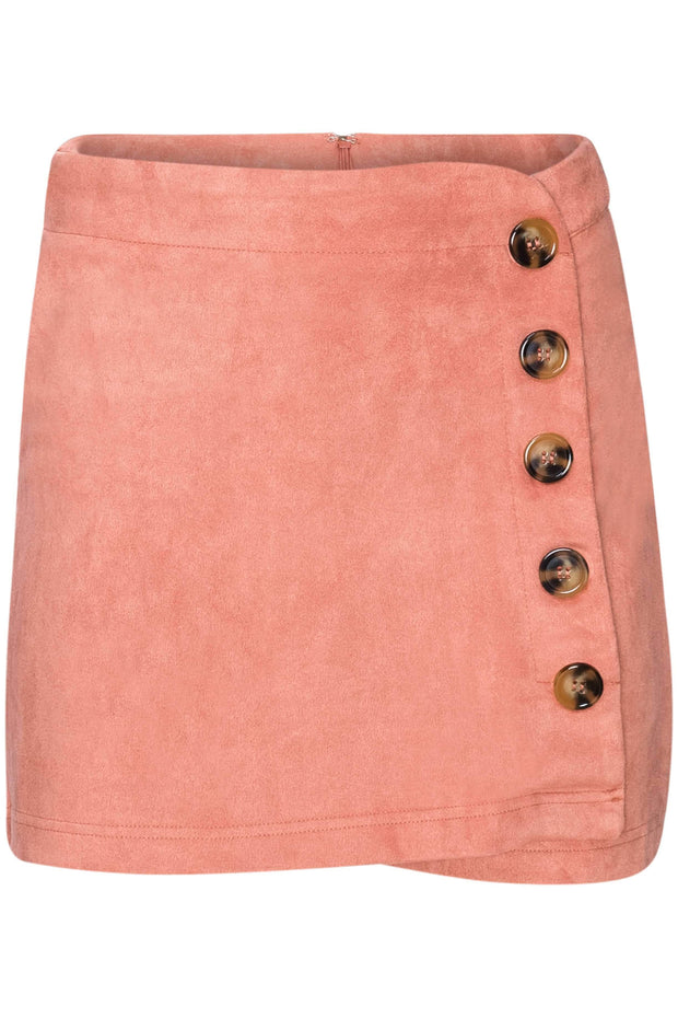 CYNTHIA LEU - CUTE AS A BUTTON FAUX SUEDE SKORT - MUSTARD - Shop Double Icon