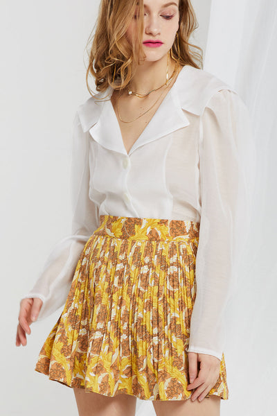 Camila Sheer Sailor Collar Blouse
