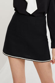 Carol Trim Mini Skirt-2 Colors