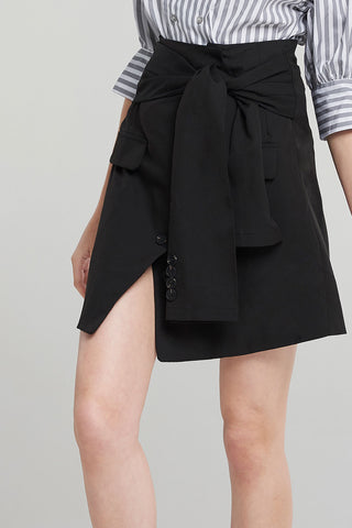 Chloe Front Tie Pencil Skirt
