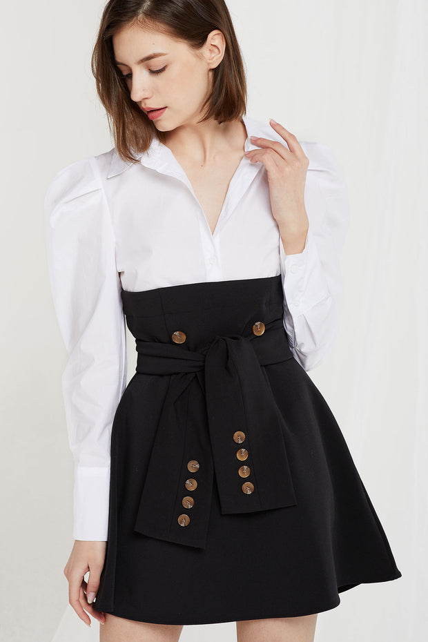 Coroy Sleeve Tie Shirt Dress