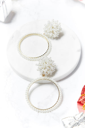 DIana Pearl Hoop Earrings
