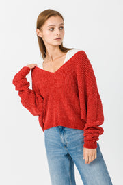 [DOUBLE ICON] BE MY SWEETIE SWEATER - RED
