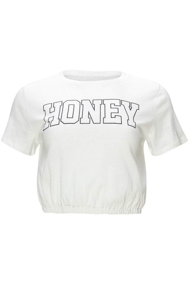 [DOUBLE ICON] HONEY CROP TOP - Shop Double Icon