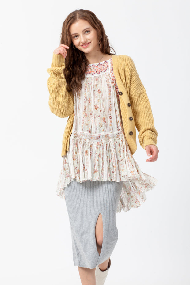 [DOUBLE ICON] BETTER DAYS KNIT CARDIGAN - MANGO