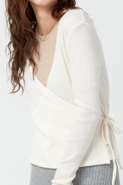 [DOUBLE ICON] EMERY WRAP FRONT TOP - BONE