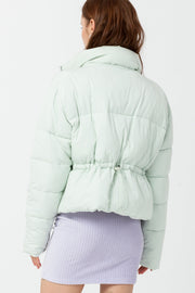[DOUBLE ICON] WEEKENDER PUFFER JACKET - PALE AQUA