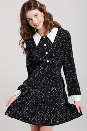 Dasha White Button Dress