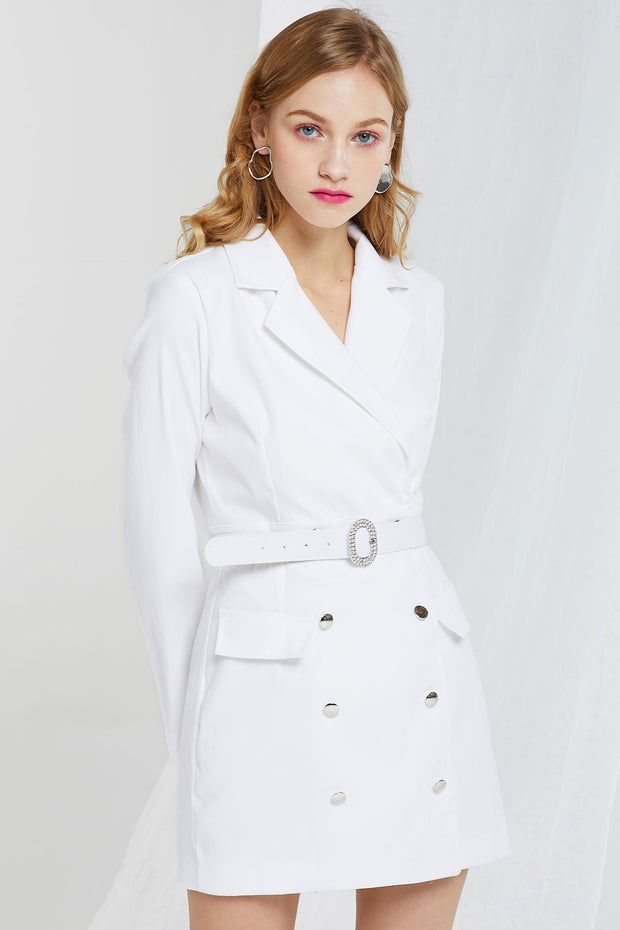 storets.com Delores Double Breasted Jacket Dress w/ Belt