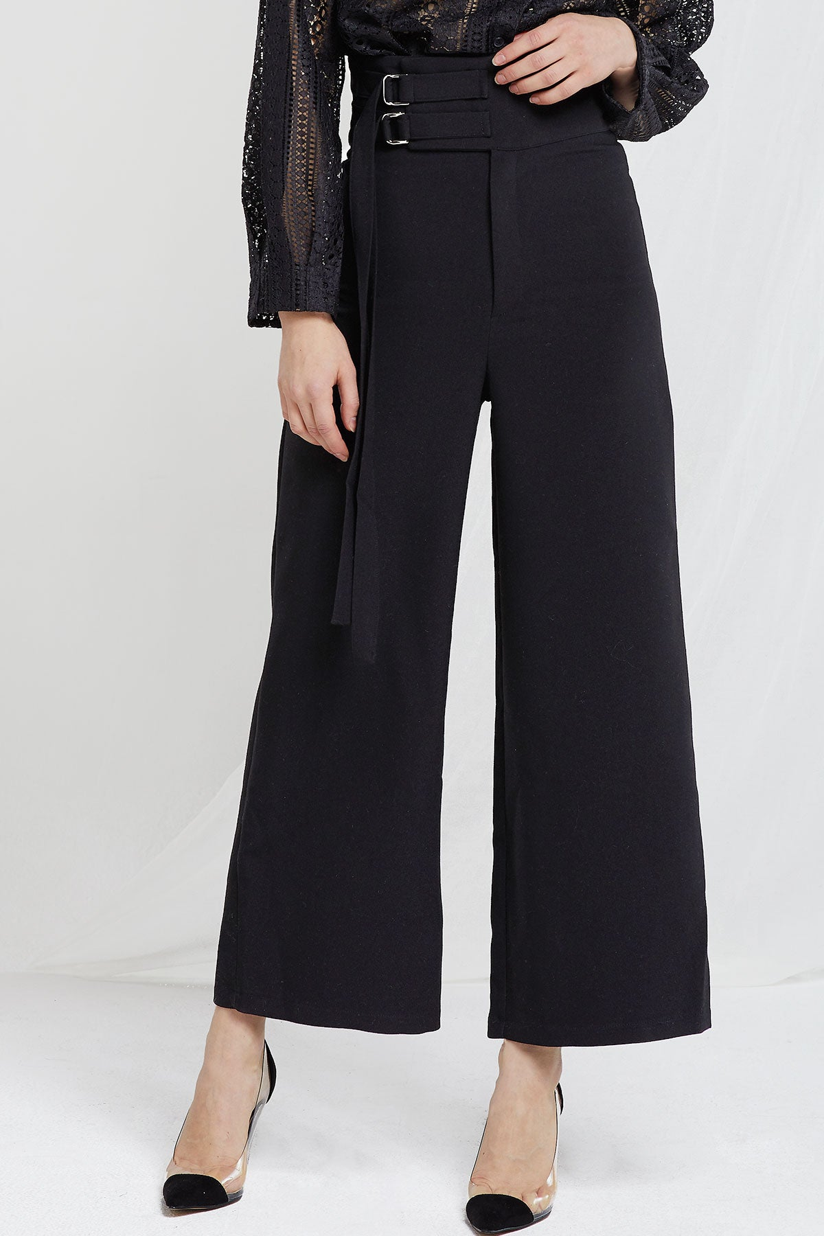 Grace Double Belted Wide Pants
