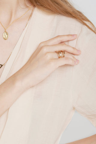 Double Bold Ring-Gold
