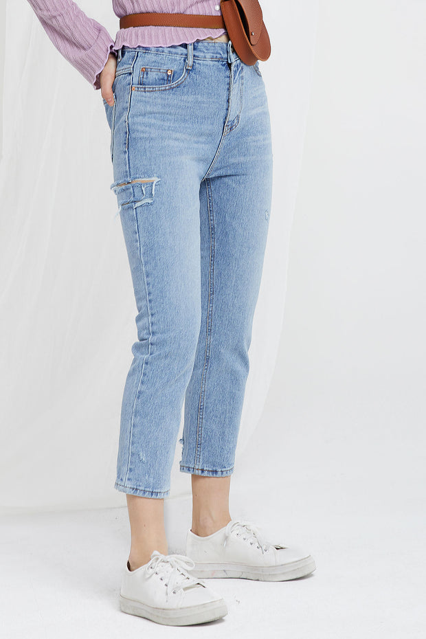 Ella Side Ripped Jeans