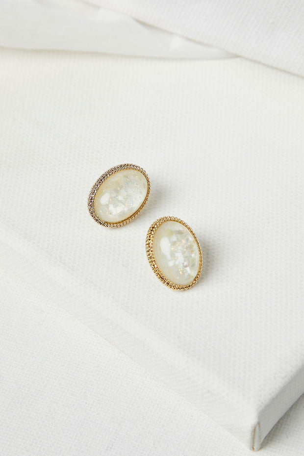 storets.com Ellipse Resin Stud Earrings