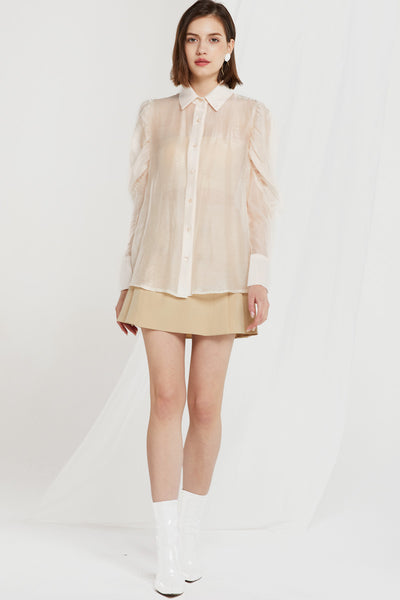 Elowen Juliet Sleeve Sheer Blouse