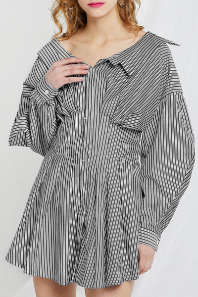 Emma Stripe Shirt Dress