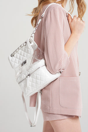 Enamel Quilted Clear Backpack