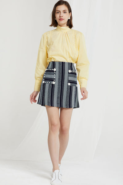 Erica Flower Embellished Skirt
