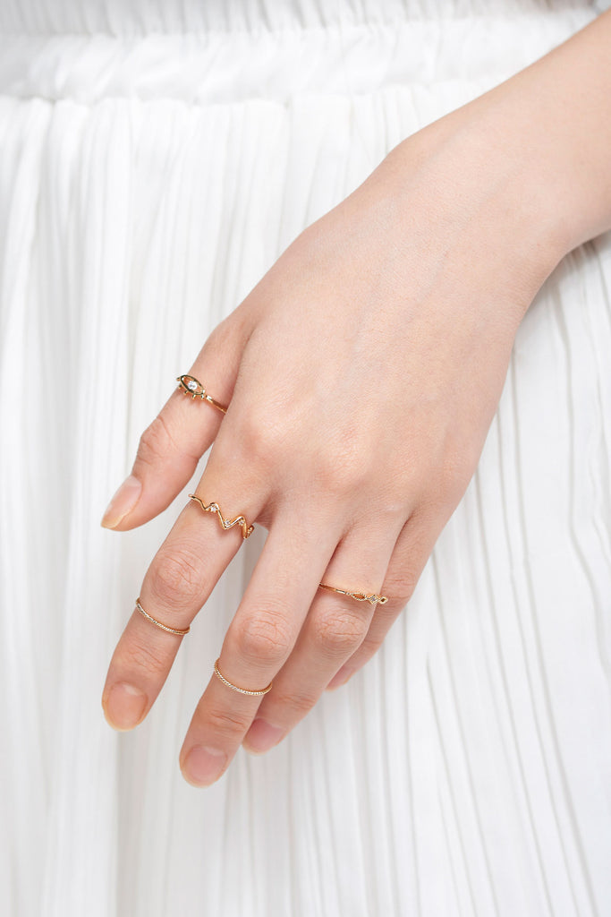 Eye Ring Set of 5-Gold