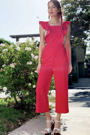 [DOUBLE ICON] SIMPLY ADORED JUMPSUIT - RED - Shop Double Icon