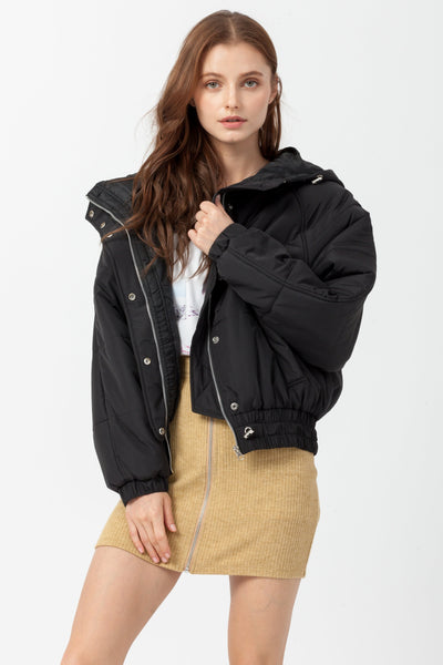 DOUBLE ICON - ALPINE PUFFER JACKET - BLACK - Shop Double Icon