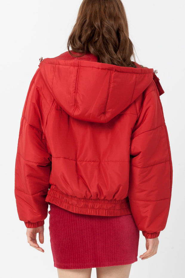 [DOUBLE ICON] ALPINE PUFFER JACKET - MARS RED