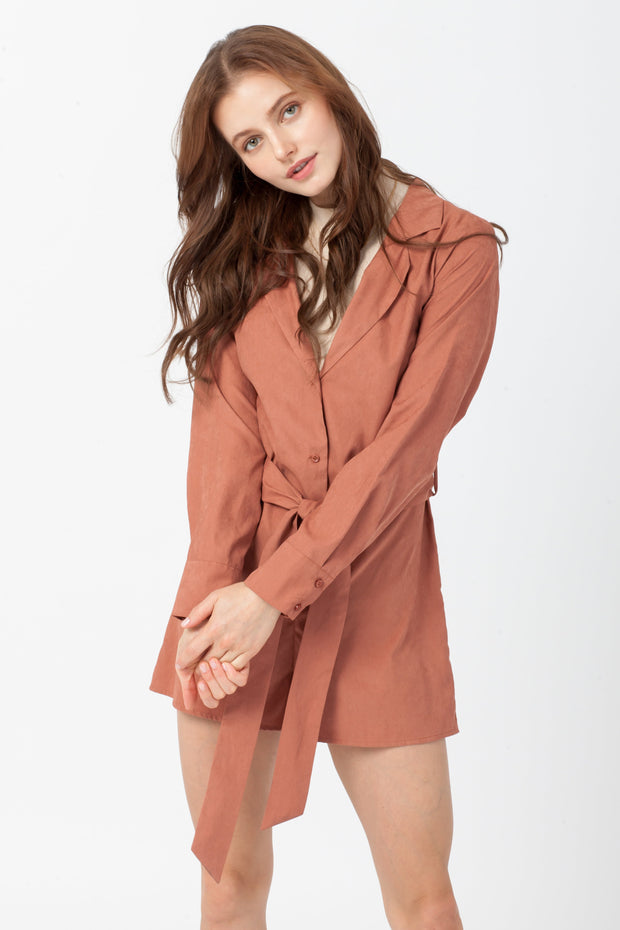 [DOUBLE ICON] OUT AND ABOUT ROMPER - CLAY
