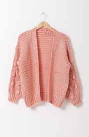 DOUBLE ICON - FIND U AGAIN KNIT CARDIGAN - PINK - Shop Double Icon