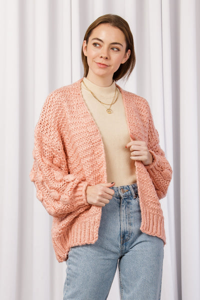 [DOUBLE ICON] FIND U AGAIN KNIT CARDIGAN - PINK