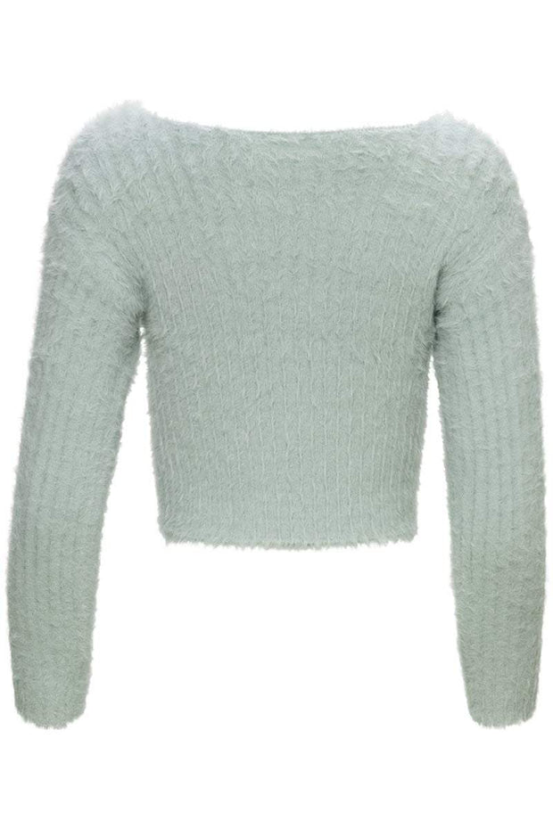 [DOUBLE ICON] FUZZY DREAMS KNIT SWEATER - Shop Double Icon