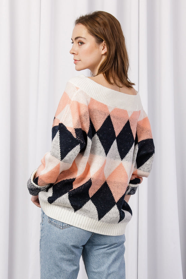 [DOUBLE ICON] SAW IT COMING SWEATER - IVORY