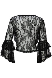 [DOUBLE ICON] AFTER SUNSET LACE TOP - BLACK - Shop Double Icon