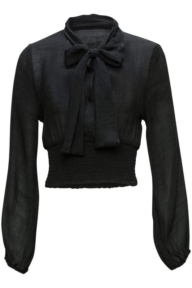 [DOUBLE ICON] CLASSIC BABE BLOUSE - BLACK - Shop Double Icon