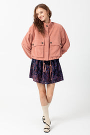 [DOUBLE ICON] FEELING A MOMENT CORDUROY JACKET - MAUVE