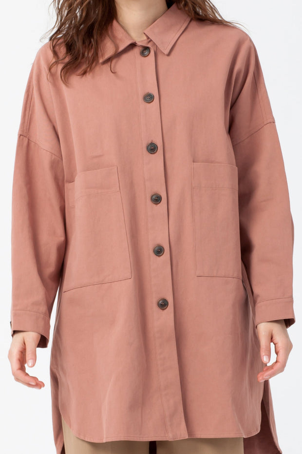 [DOUBLE ICON] CARRY ON UTILITY JACKET - MAUVE