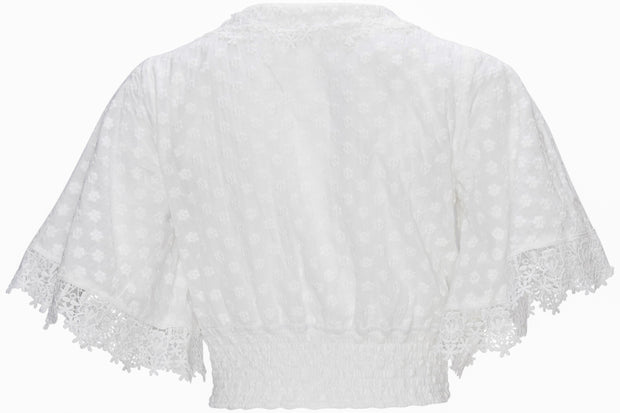 [DOUBLE ICON] SERENITY CROCHET CROP TOP - OFF WHITE