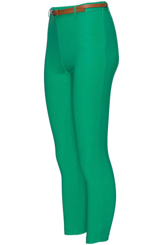 [DOUBLE ICON] SO STRETCHY HIGH WAISTED PANTS - GREEN