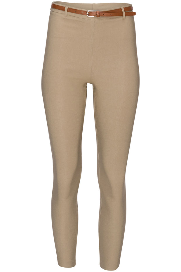 [DOUBLE ICON] SO STRETCHY HIGH WAISTED PANTS - KHAKI