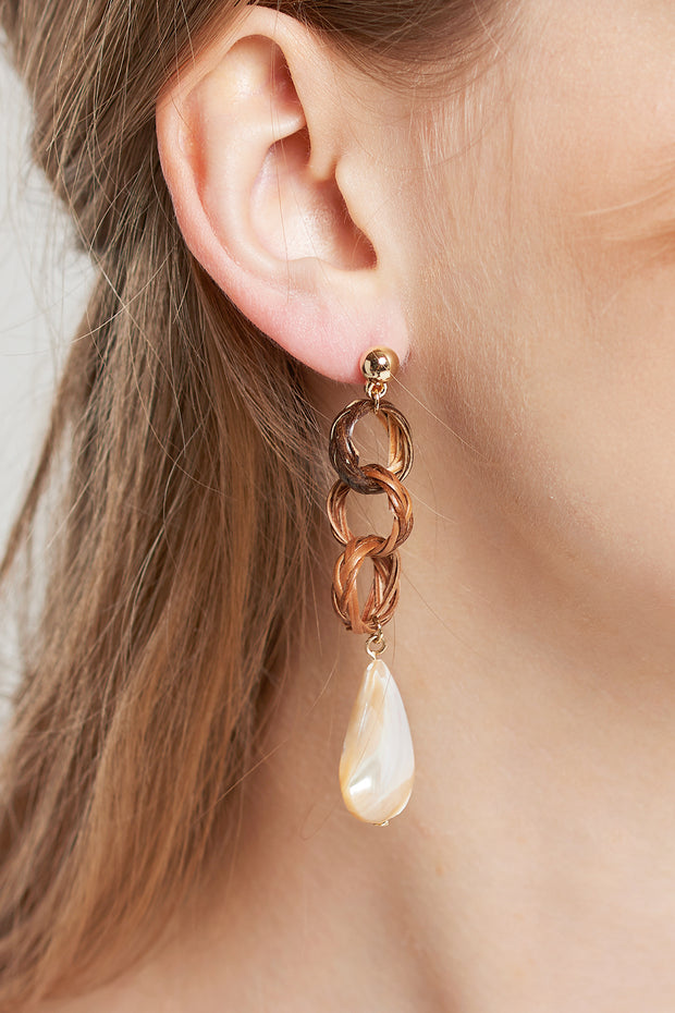Linked Weaved String Earrings