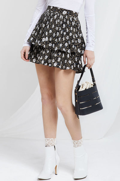 Floral Tiered Skirt by STORETS