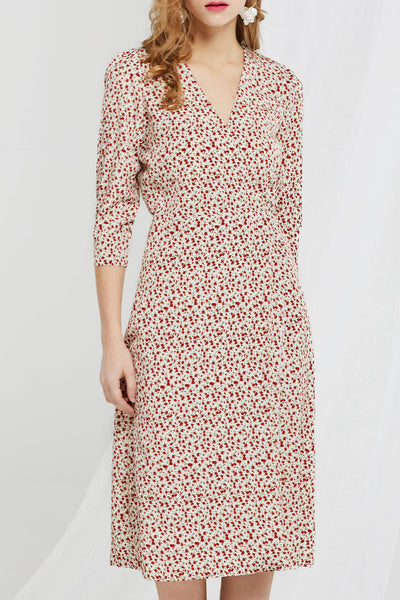 Floral Wrap Dress by STORETS