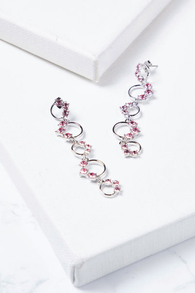 Wavy Flower Drop Earrings