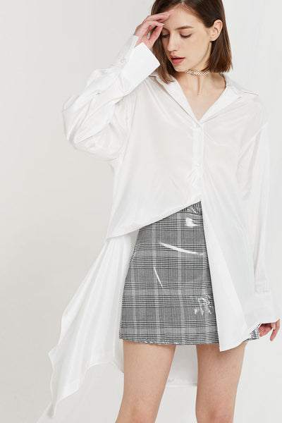 Georgia Asymmetric Shirt w/ Cutout hem