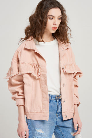 Ginny Cotton Frill Jacket
