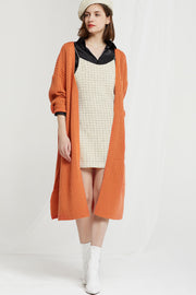 Greta Ribbed Knit Long Cardigan
