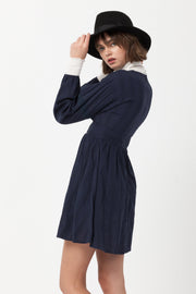 [DOUBLE ICON] WHIMSICAL MOONLIGHT MINI DRESS - NAVY
